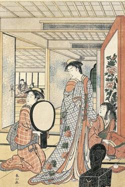 Woman in Front of Mirror by Katsukawa Shunsho