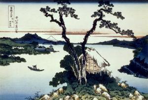 36 Views of Mount Fuji, no. 17: Lake Suwa in the Shinano Province by Katsushika Hokusai
