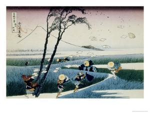 36 Views of Mount Fuji, no. 18: Ejiri in the Suruga Province by Katsushika Hokusai