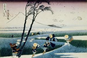 36 Views of Mount Fuji, no. 18: Ejiri in the Suruga Province by Katsushika Hokusai