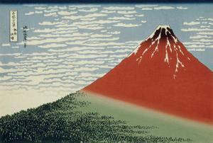 36 Views of Mount Fuji, no. 2: Mount Fuji in Clear Weather (Red Fuji) by Katsushika Hokusai