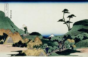 36 Views of Mount Fuji, no. 25: Shimomeguro by Katsushika Hokusai