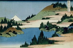 36 Views of Mount Fuji, no. 34: The Lake of Hakone in the Sagami Province by Katsushika Hokusai