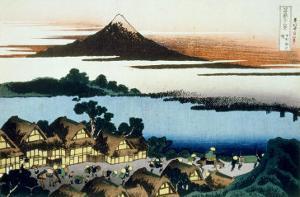 36 Views of Mount Fuji, no. 41: Dawn at Isawa in the Kai Province by Katsushika Hokusai