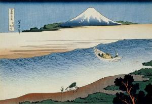 36 Views of Mount Fuji, no. 8: Tama River in the Musashi Province by Katsushika Hokusai