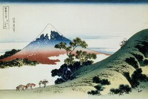 36 Views of Mount Fuji, no. 9: Inume Pass in the Kai Province by Katsushika Hokusai