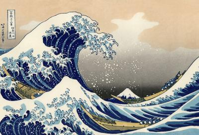 Katsushika Hokusai A Big Wave Off Kanagawa Art Poster Print