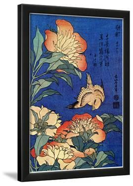 Katsushika Hokusai A Bird And  Flowers Art Poster Print