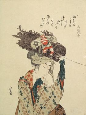 A Girl from Ohara, 1806-1815 by Katsushika Hokusai