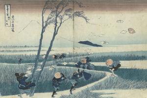 A Sudden Gust of Wind by Katsushika Hokusai