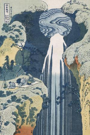 Amida Waterfall on the Kiso Highway' by Katsushika Hokusai