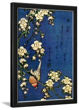 Katsushika Hokusai Bullfinch and Drooping Cherry Art Poster Print