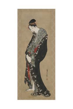 Courtesan, Edo Period by Katsushika Hokusai
