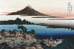 Dawn at Isawa in Kai Province by Katsushika Hokusai