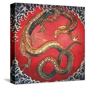 Dragon (detail) by Katsushika Hokusai
