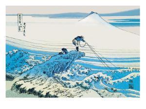 Fishing in the Surf by Katsushika Hokusai
