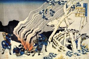 From the Series Hundred Poems by One Hundred Poets: Minamoto No Muneyuki, C1830 by Katsushika Hokusai