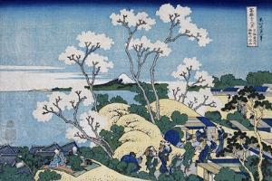 Fuji from Gotenyama at Shinagawa on the Tokaido, from series 'The Thirty-Six Views of Mt. Fuji' by Katsushika Hokusai