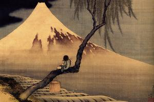 Katsushika Hokusai A Boy in front of Fujiama by Katsushika Hokusai