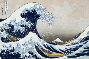 Katsushika Hokusai The Great Wave at Kanagawa (from 36 views of Mount Fuji), c.1829 Plastic Sign by Katsushika Hokusai