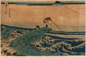 Koshu Kajikazawa by Katsushika Hokusai