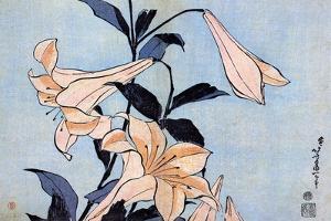 Lilies, C1830 by Katsushika Hokusai