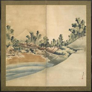 Mount Fuji and Enoshima, Edo Period, C.1825 by Katsushika Hokusai