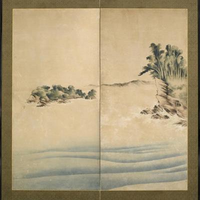 Mount Fuji and Enoshima, Edo Period, C.1825 by Katsushika Hokusai