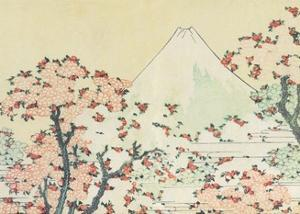Mount Fuji seen through Cherry Blossom by Katsushika Hokusai