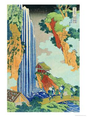 Ono Waterfall, the Kiso Highway by Katsushika Hokusai