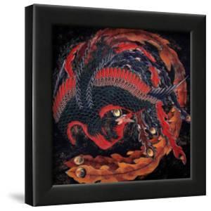 Phoenix (detail) by Katsushika Hokusai