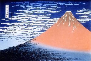 Red Fuji, 1823-1831 by Katsushika Hokusai