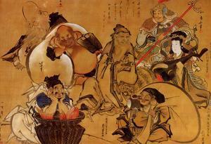 Katsushika Hokusai Seven Gods of Fortune Art Poster Print
