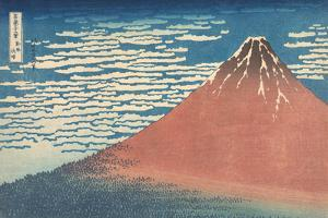 South Wind, Clear Sky by Katsushika Hokusai