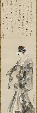 Standing Courtesan, 1801-05 by Katsushika Hokusai