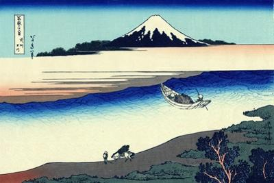 Tama River in Musashi Province' (From a Series 36 Views of Mount Fuj), 1830-1833 by Katsushika Hokusai