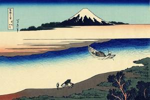 Tama River in the Musashi Province, c.1830 by Katsushika Hokusai
