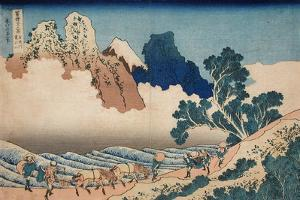 The back of the Fuji from the Minobu river, c.1830 by Katsushika Hokusai