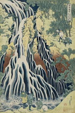 The Falling Mist Waterfall at Mount Kurokami in Shimotsuke Province by Katsushika Hokusai