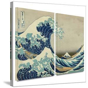 The Great Wave Off Kanagawa 2 piece gallery-wrapped canvas by Katsushika Hokusai