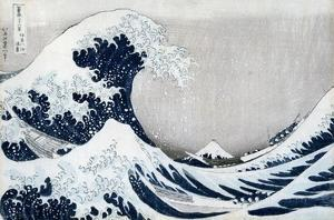 The Great Wave Off Kanagawa, from the Series '36 Views of Mt. Fuji' ('Fugaku Sanjuokkei') by Katsushika Hokusai