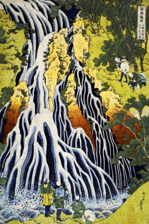 The Kirifuri Waterfall at Mt. Kurokami in Shimotsuke Province by Katsushika Hokusai