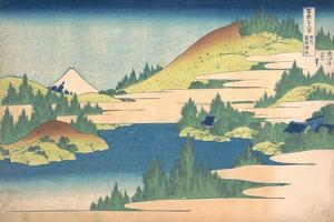 The Lake of Hakone in Sagami Province (From a Series 36 Views of Mount Fuj), 1830-1833 by Katsushika Hokusai