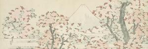 The Mount Fuji with Cherry Trees in Bloom by Katsushika Hokusai
