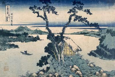 The Suna Lake (Colour Woodblock Print) by Katsushika Hokusai