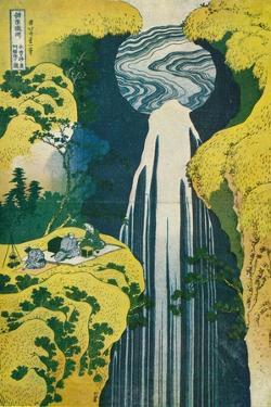 The Waterfall of Amida Behind the Kiso Road, C1832. (1925) by Katsushika Hokusai