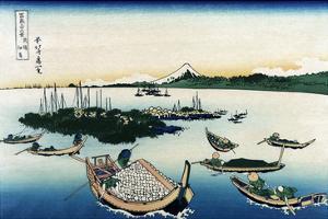 Tsukada Island in Musashi Province by Katsushika Hokusai