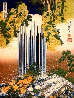 Two Men Admiring Yoro Waterfall, 1832 by Katsushika Hokusai
