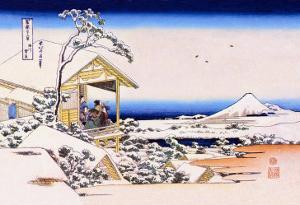 View of Mount Fuji in Winter by Katsushika Hokusai