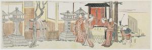 Visiting Oji Inari Shrine, 1801-1805 by Katsushika Hokusai
